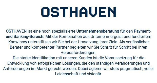 Unternehmensberatung OSTHAVEN GmbH